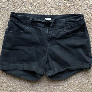 High Wasted Black Jean Shorts